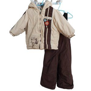 DISNEY Classic Pooh 2 piece Snowsuit Beige & Brown